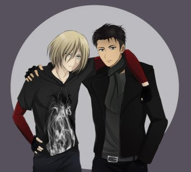 Otabek and Yurio by AriamJan