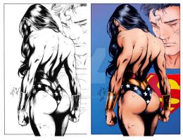 Wonder Woman and Superman by LaisLeite