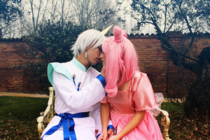Helios and Chibiusa, Sweet kiss by LaurelinAureo