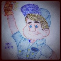 Napkin Art 154 - Fix-It Felix, Jr - Wreck-It Ralph by PeterParkerPA