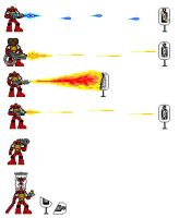Space Marines pixelated weapon by Skeletor-of-the-West