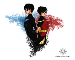 ::..Nightwing and Robin..:: by milena-gorska