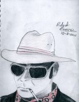 Hunter S. Thompson portrait by captrobrob