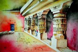 Pillers-Ajanta Caves-Aurangabad by Akvil