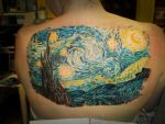 VanGogh Starry Night tattoo by AliciaQuinby