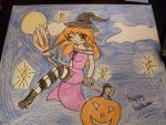 witch girl halloween colour by 00babyangel00
