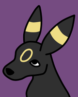 Umbreon Portrait 68-200 by NativeWolf330