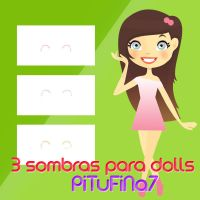 3 Sombras para Dolls by PiTuFiNa7