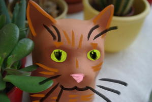 Pottery Cat by Leopardclawthecat