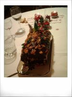 Christmas traditional cake  Buche by Papercolour
