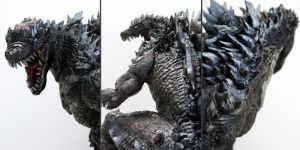 Godzilla close ups by FritoFrito