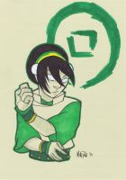 Toph pre-con sketch by BloodySamoan