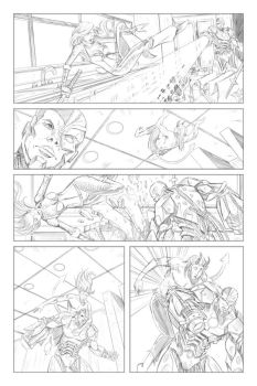 Teen Titans: page 4 pencils by Shono