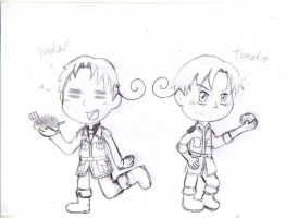 Hetalia - South Italy and North Italy by LeticiaTheHedgehog