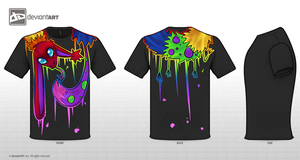 Rainbow Cute Monster Shirt Design Entry by Kaci-Star