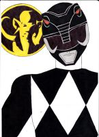 Mighty Morphin' Power Rangers 03 Black Ver. 1 by SeptimusParker