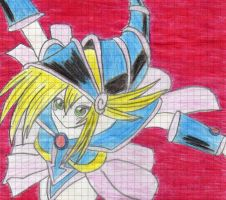 Dark Magician Girl attack by Firecharmess