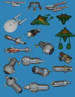 pre TOS Star Trek starships by falcon01