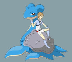 Pokemon - Lapras and Hollyn by ShadowCutie1