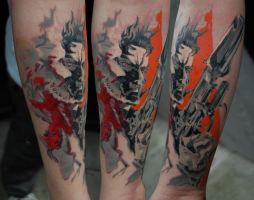 Metal Gear Solid Piece by Norbert Halasz by DublinInk