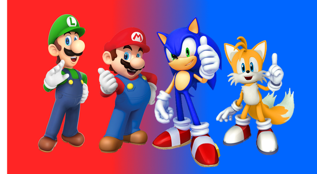 Luigi And Sonic Super Mario Bros by 90...