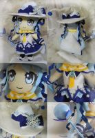 Snow Miku Plushie (Details) by frillycarnival