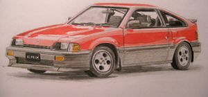 Honda CR-X Quick draw by And300ZX