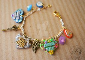 The Iron Fey Charm Bracelet by colourful-blossom