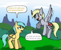 Why Derpy goes North... by Blayaden