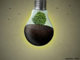 Life in a bulb #1 by asganafer