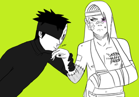 Naruto - Tobidei - Kiss and Make It Better by gensing