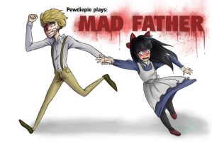 Come With Me: Pewdiepie plays Mad Father by TheTinyTaco