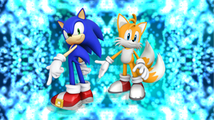 Sonic and Tails [1] by Light-Rock