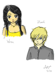 Sketchy Sketch: Wren and Zach by luvpunkie