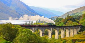 The Jacobite, Glenfinnan Viaduct by Somnp