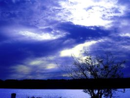 sky at the lake by Fu11Co11apse