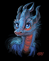 Baby ice dragon by griffsnuff