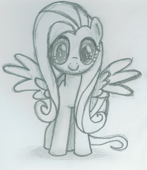 Fluttershy - Front Pose by TheXxxX