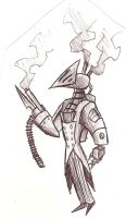 Some kind of mechanical guard by surrealdeamer