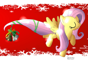 Fluttershy Christmas by Inlinverst