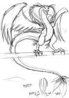 BW - Wyvern by Doublevisionary