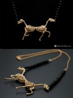 Horse Skeleton Pendant by Sketchy-Stories