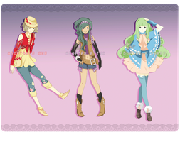 (CLOSED) Adoptable: Pokegirls by morigamii