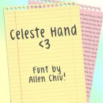 Celeste Hand Font by asianpride7625