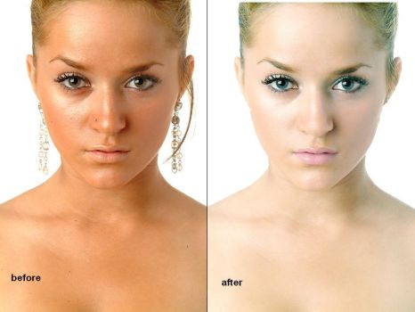 Retouch Before and After by madgurl