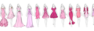 Pink Ribbon Collection by Flurryfox