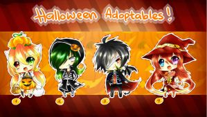 Halloween Adoptables [CLOSED] by mintdesuCommishes