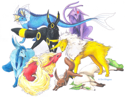 Eeveelutions by PencilRenaissance