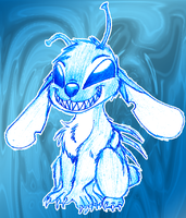 Stitch Sketch by DarkRavenofChaos