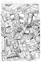 Grimlock page01 inks by MarceloMatere